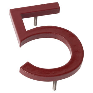 "24"" Brick Red Aluminum floating or flat Modern House Numbers 0-9"
