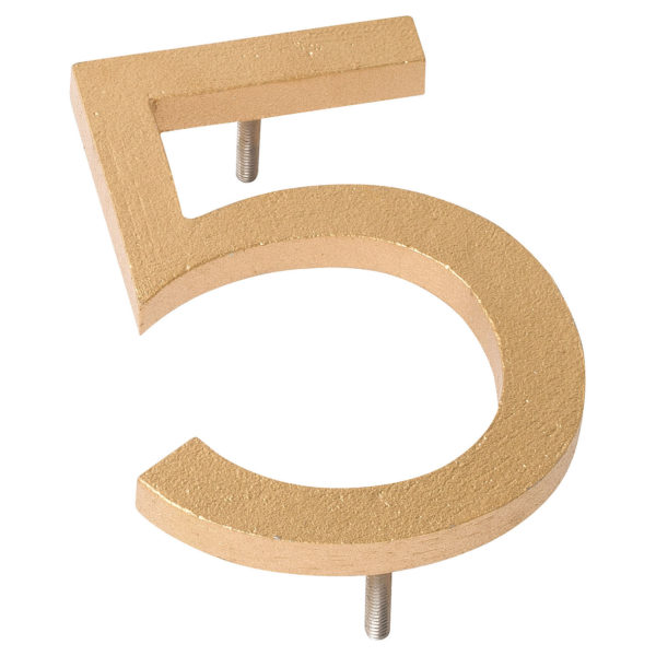 """24"""" Gold Aluminum floating or flat Modern House Numbers 0-9"""