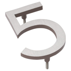 "10"" Satin Nickel/Sand Two Tone Aluminum floating or flat Modern House Numbers 0-9"