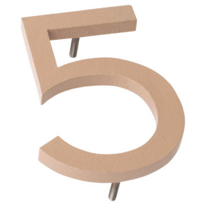 "10"" Taupe Aluminum floating or flat Modern House Numbers 0-9"