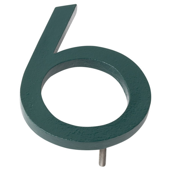 """16"""" Hunter Green Aluminum floating or flat Modern House Numbers 0-9"""