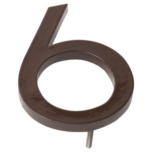 "8"" Roman Bronze Aluminum floating or flat Modern House Numbers 0-9"