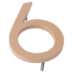 "4"" Taupe Aluminum floating or flat Modern House Numbers 0-9"
