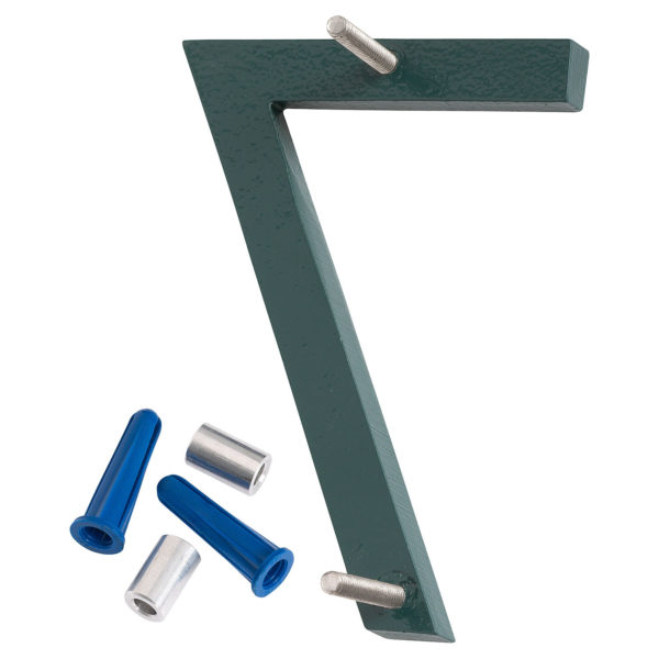 """6"""" Hunter Green Aluminum floating or flat Modern House Numbers 0-9"""