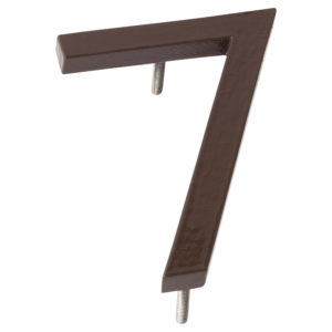 "4"" Roman Bronze Aluminum floating or flat Modern House Numbers 0-9"