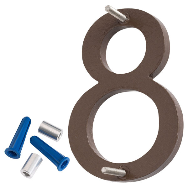 """24"""" Satin Nickel/Sand Two Tone Aluminum floating or flat Modern House Numbers 0-9"""