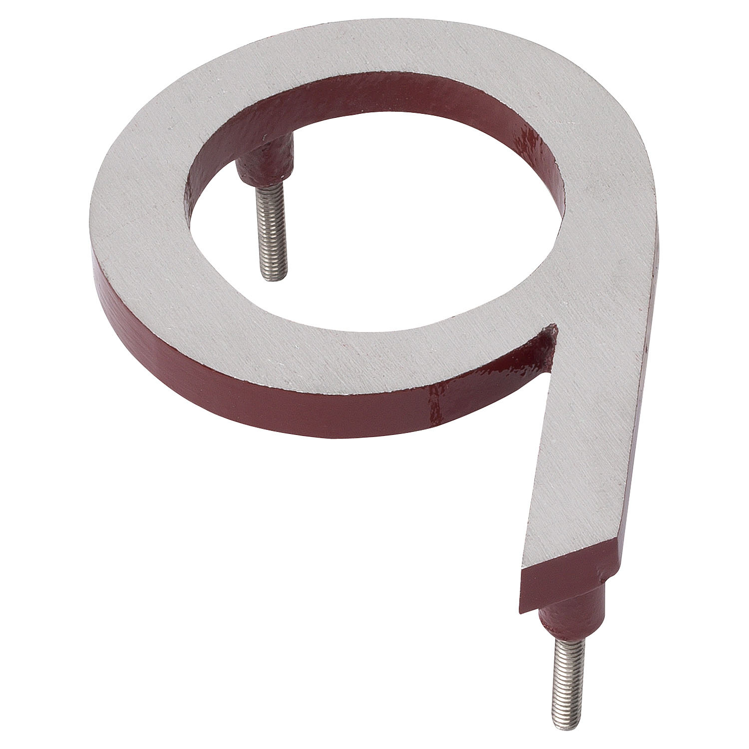 8 Satin Nickel Brick Red Two Tone Aluminum Floating Or Flat Modern House Numbers 0 9 Montague Metal Products
