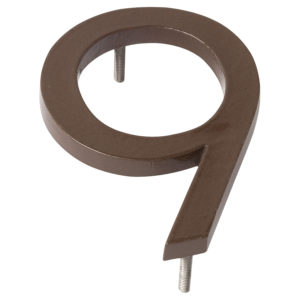 "16"" Sand Aluminum floating or flat Modern House Numbers 0-9"