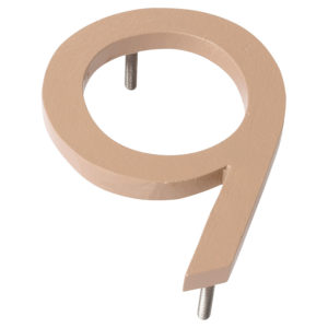 "12"" Taupe Aluminum floating or flat Modern House Numbers 0-9"