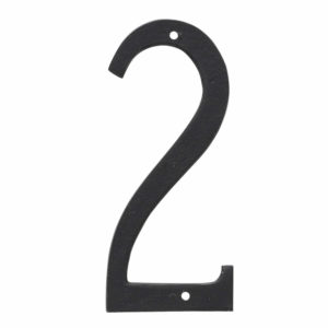 "4"" Standard House Number in Black or White"