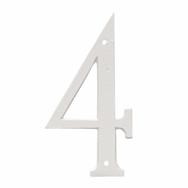 """6"""" Standard House Number in Black or White"""