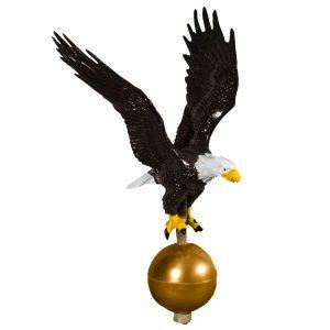 """12"""" Aluminum Flagpole Eagle"""