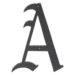 "16"" Home Accent Individual Monogram Letters A-Z Black"