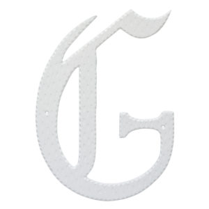 "24"" Home Accent Individual Monogram Letters A-Z White"