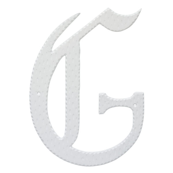 """24"""" Home Accent Individual Monogram Letters A-Z White"""