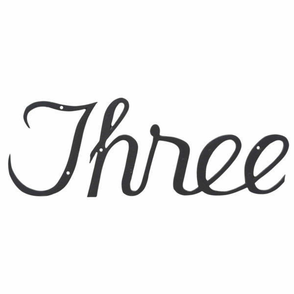 Small Script House Number