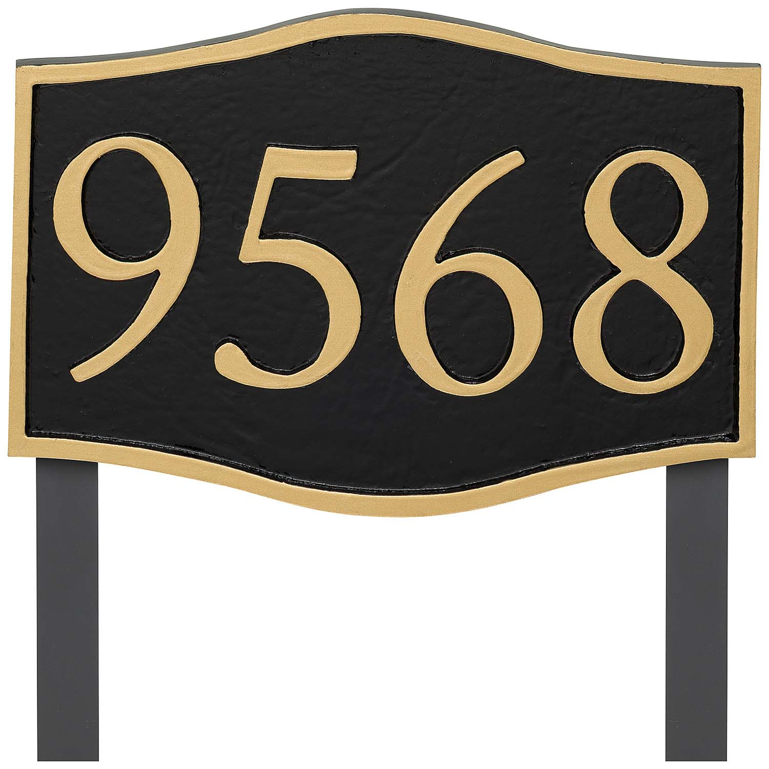 Double Arch Serif Economy Address Plaque (holds up to 4 characters)