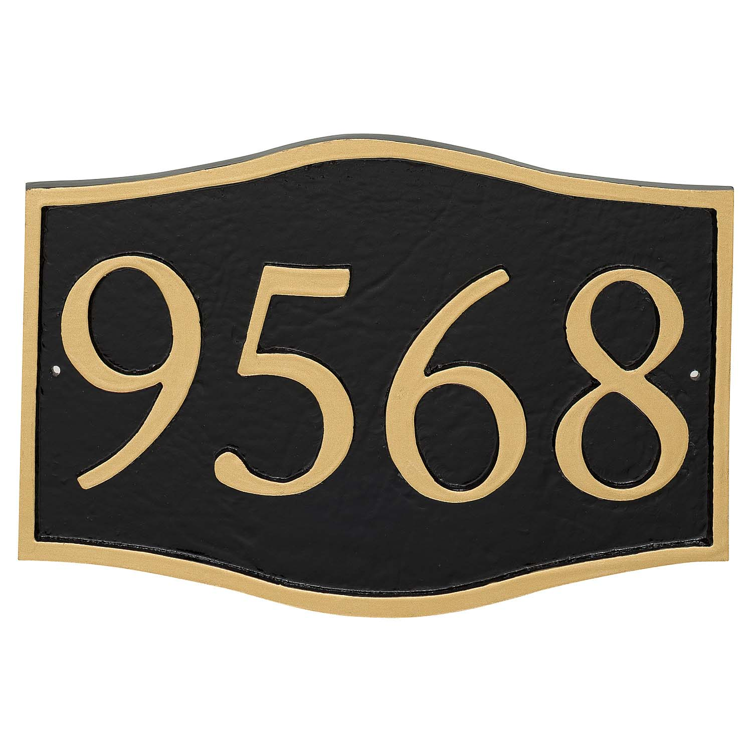 Double Arch Serif Economy Address Plaque (holds 4 characters)