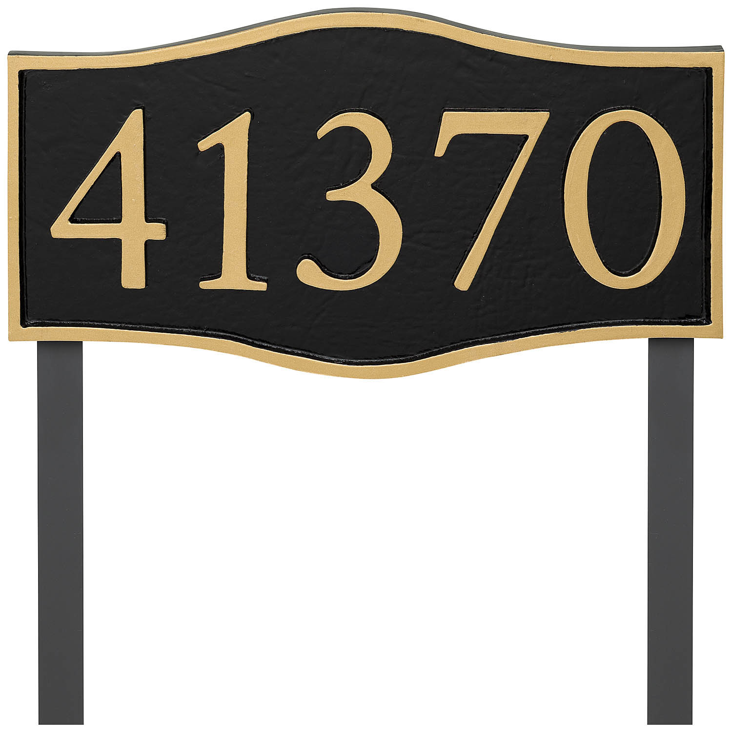 Double Arch Serif Economy Address Plaque (holds up to 5 characters)