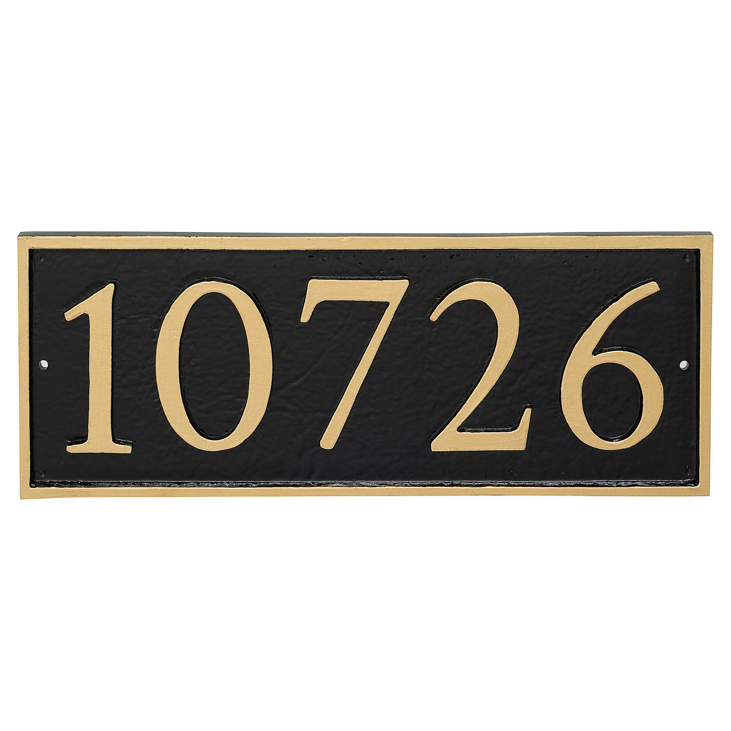 Rectangle Serif Economy Address Plaque (holds up to 5 characters)