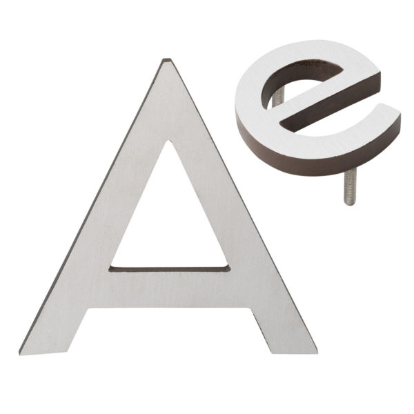 """4"""" Individual Antique Copper Satin Nickel Two-Tone Modern Floating Letters A-Z"""