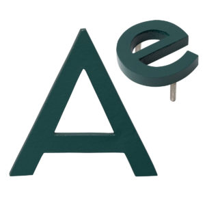 "10"" Individual Hunter Green Powder Coated Aluminum Modern Floating Letters A-Z"