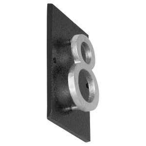 """Floating Modern 6"""" Number Horizontal Address Plaque (1 character)"""