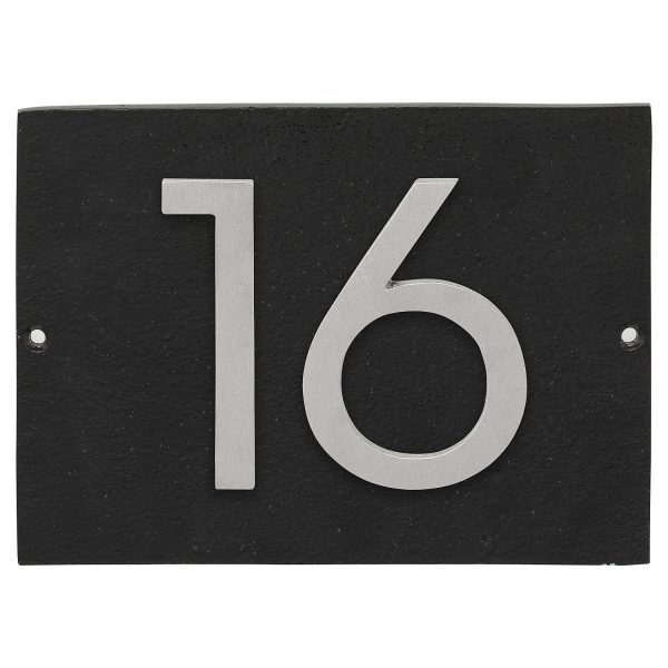"""Floating Modern 6"""" Number Horizontal Address Plaque (2 characters)"""