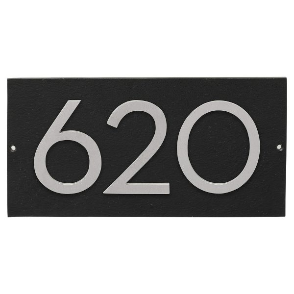 """Floating Modern 6"""" Number Horizontal Address Plaque (3 characters)"""