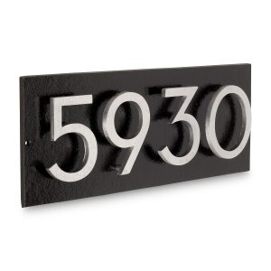 """Floating Modern 6"""" Number Horizontal Address Plaque (4 characters)"""
