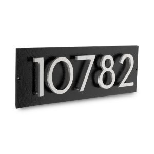 """Floating Modern 6"""" Number Horizontal Address Plaque (5 characters)"""