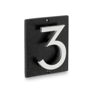 """Floating Modern 6"""" Number and Letter Vertical Address Plaque (1 character)"""