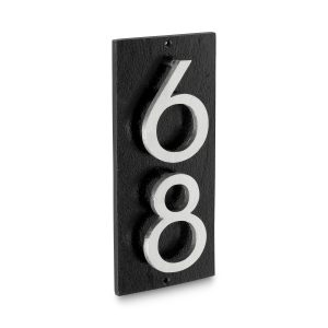 """Floating Modern 6"""" Number and Letter Vertical Address Plaque (2 characters)"""