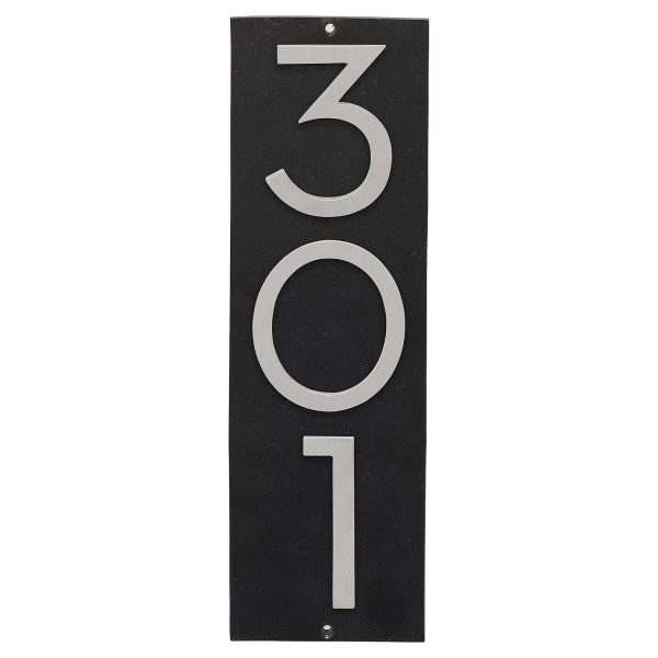 """Floating Modern 6"""" Number and Letter Vertical Address Plaque (3 characters)"""