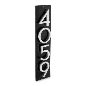 """Floating Modern 6"""" Number and Letter Vertical Address Plaque (4 characters)"""