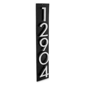 """Floating Modern 6"""" Number and Letter Vertical Address Plaque (5 characters)"""